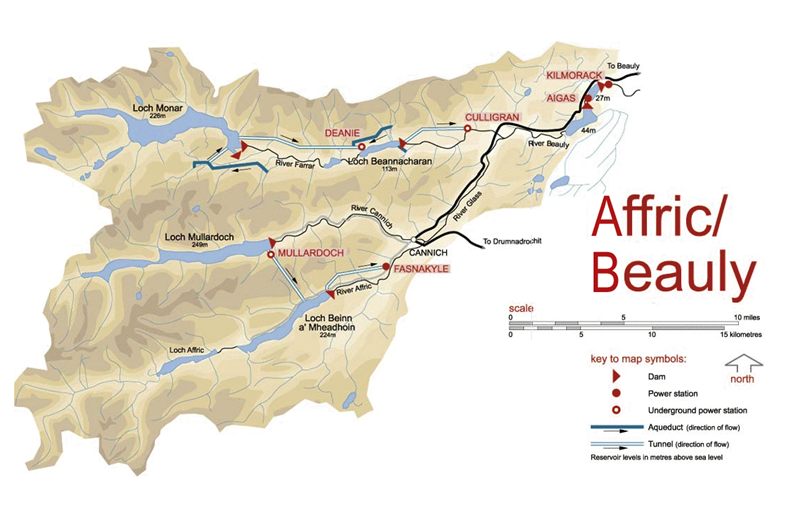 Affric Beauly map